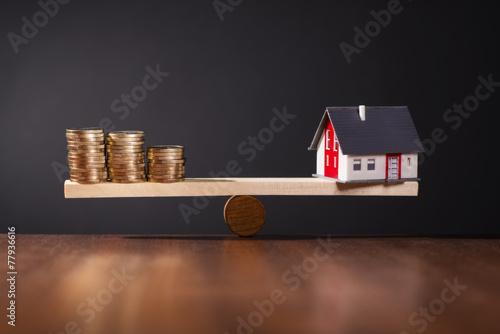 Leinwanddruck Bild Solide Baufinanzierung