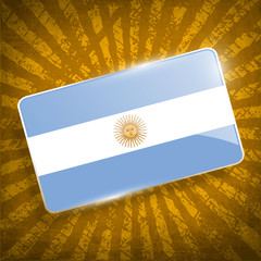 Flag of Argentina with old texture. Vector