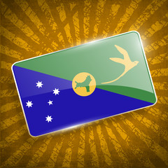 Flag of Christmas Island with old texture. Vector