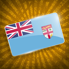 Flag of Fiji with old texture. Vector