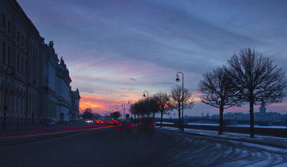 The Palace embankment, St. Petersburg