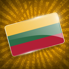 Flag of Lithuania with old texture. Vector