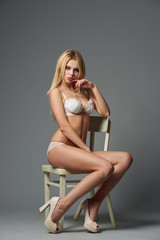 beautiful sexy girl studio shot