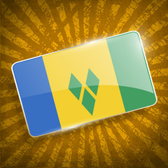 Flag of Saint Vincent and The Grenadines. Vector