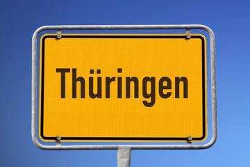 Ortsschild Thüringen