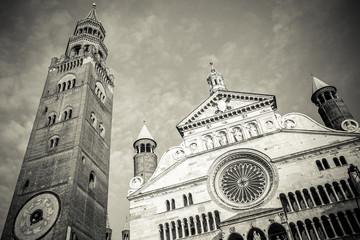 Duomo of Cremona city Italy - facade