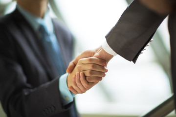 businessman shaking hands to seal a deal