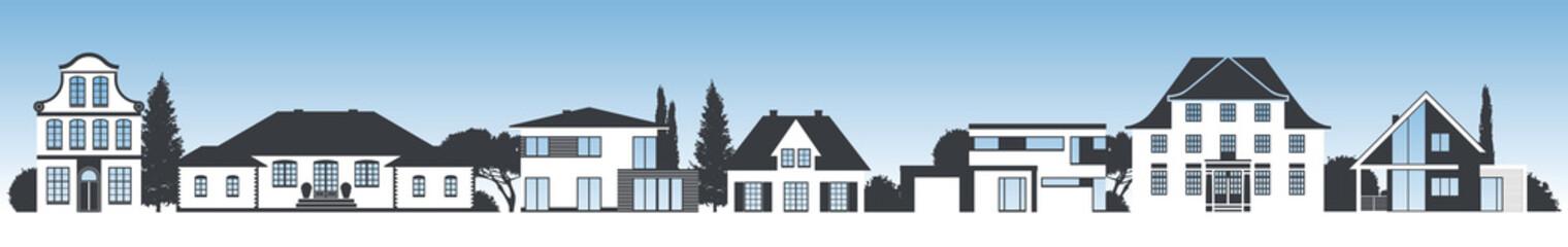 7 verschiedene Häuser