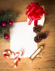 Christmas card: blank, vintage rural gift