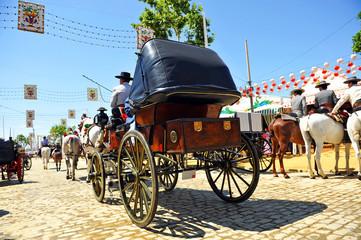 Coche de caballos, Feria de Sevilla, España