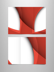 tri fold red brochure template