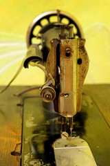 old, machine, sewing, fabric, textiles, traditional