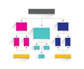 Flowchart tab. Infographic element.