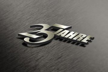 25 Jahre - Metall - 3d