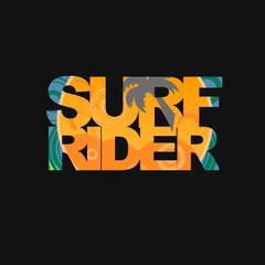 Surfer typography, t-shirt graphics