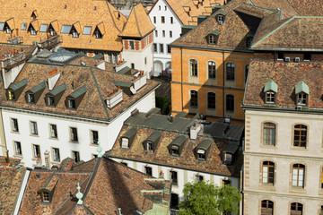 Geneva city roofs