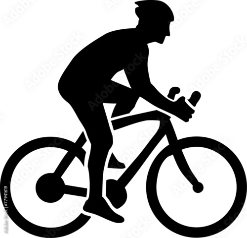 Cycling Silhouette - 77941619