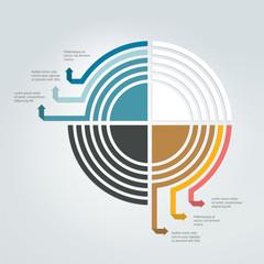 Round template. Circle diagram, scheme. Infographics elements.