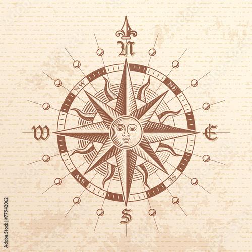 Zdjęcia na płótnie, fototapety, obrazy : Vector Vintage Compass Rose