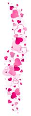 Pink Hearts Banner Vertical