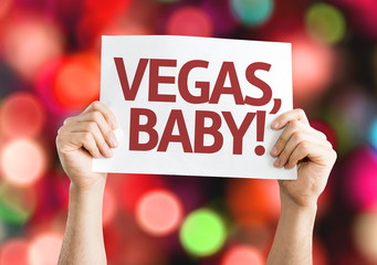 Vegas, Baby! card with colorful background