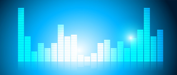 equalizzatore, audio, musica, suono, volume