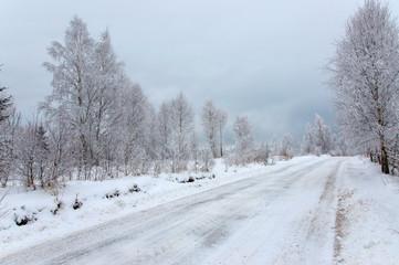Frosty winter road