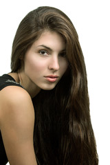 Beauty Portrait  woman.  Perfect Fresh Skin.