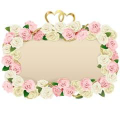 Vector Wedding Flower Board