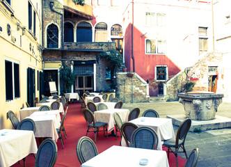 Venice, romantic restaurant