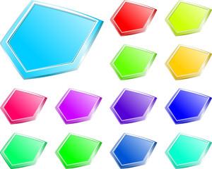 przyciski mix kolorów