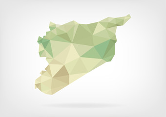 Low Poly map of Syria
