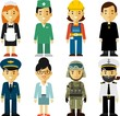 People occupation characters set in flat style - 77944606