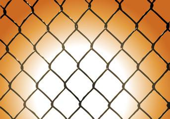 recinzione tramonto