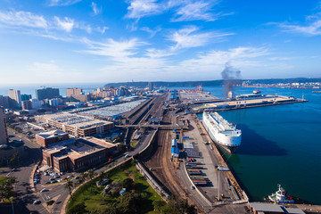 Durban Harbor Port Air Landscape