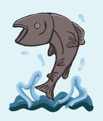 Salmon Fish Jumping