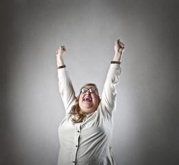 Jubilant woman