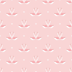 valentines heart swan pattern