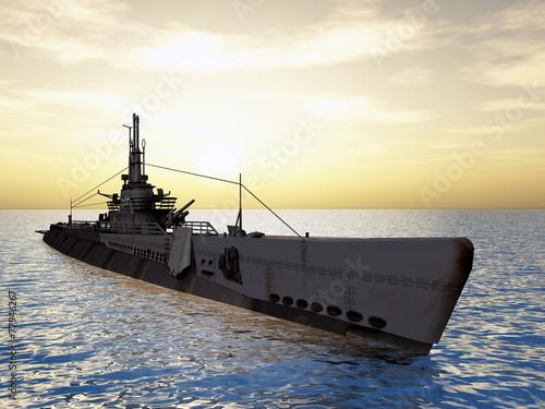 Submarine USS Trigger of WW2