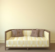 canvas print picture - Interior with couch.