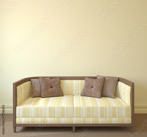canvas print picture Interior with couch.