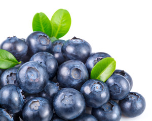 blueberries isolated..