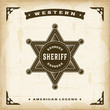 Vintage Western Sheriff Badge - 77947036