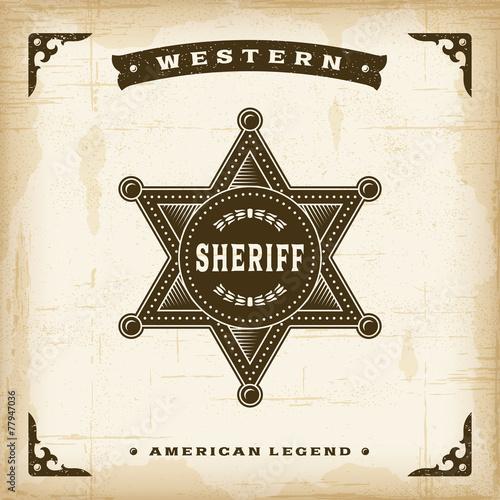 Vintage Western Sheriff Badge - 77947036
