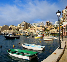 Spinola Bay, St Julian's ,  destination in Maltese Islands.