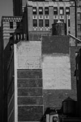 Fift avenue aged brick wall 5 th Av New York USA