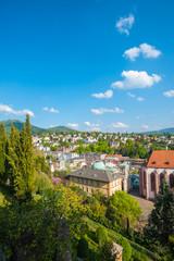 Stadtpanorama mit Friedrichsbad, Baden-Baden, Schwarzwald, Baden