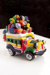 Colombian handicrafts bus