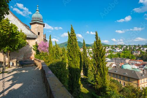 Schlossterrasse Neues Schloss, Baden-Baden, Schwarzwald, Baden-W - 77947828