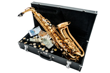Saxophone with money
